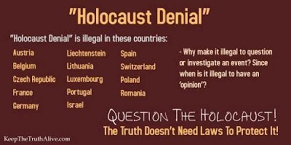 Bilde: Det er tre måter å forholde seg til Holocaust på: Saklig/vitenskapelig, religiøst/trosmessig og propagandistisk/løgnaktig. Hva foretrekker du for deg selv?